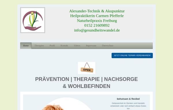Vorschau von gesundheitswandel.de, Carmen Pfefferle