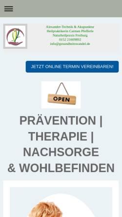 Vorschau der mobilen Webseite gesundheitswandel.de, Carmen Pfefferle