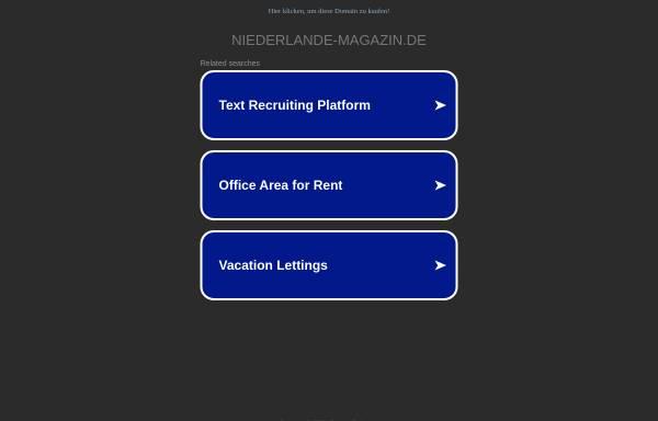 Vorschau von www.niederlande-magazin.de, Niederlande Magazin