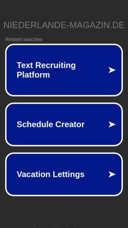 Vorschau der mobilen Webseite www.niederlande-magazin.de, Niederlande Magazin