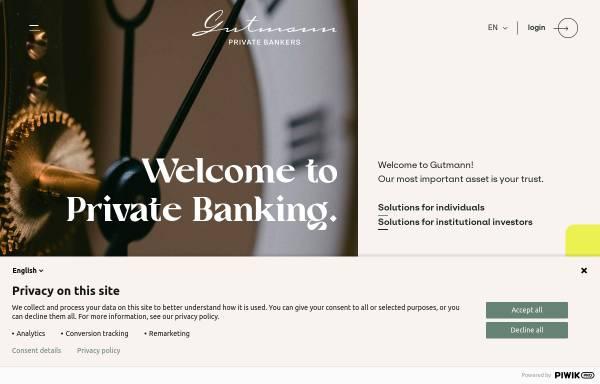 Vorschau von www.gutmann.at, Bank Gutmann AG