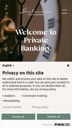 Vorschau der mobilen Webseite www.gutmann.at, Bank Gutmann AG