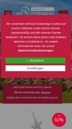 Vorschau der mobilen Webseite www.am-rothenberg.de, Landhotel am Rothenberg