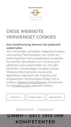 Vorschau der mobilen Webseite www.sanitaer-entenmann.de, Sanitärbetrieb Michael Entenmann