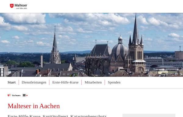 Vorschau von www.malteser-aachen.de, Malteser Hilfsdienst in Aachen