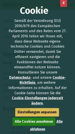 Vorschau der mobilen Webseite www.provinz.bz.it, Vereine in Südtiroler Bürgernetz