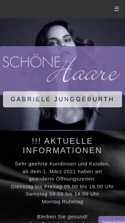 Vorschau der mobilen Webseite www.xn--schnehaare-odenthal-s6b.de, Wellness und Friseur-Salon Gaby Eßer