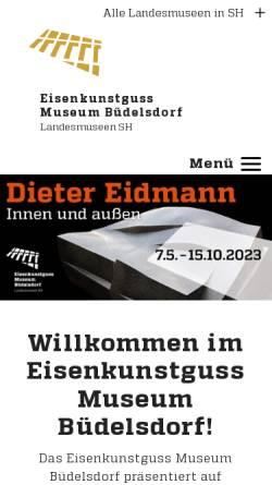 Vorschau der mobilen Webseite www.schloss-gottorf.de, Eisenkunstguss-Museum