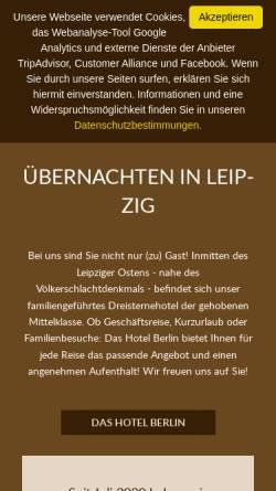 Vorschau der mobilen Webseite hotel-berlin-leipzig.de, HBL GmbH