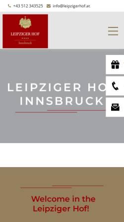 Vorschau der mobilen Webseite www.leipzigerhof.at, Hotel Leipziger Hof