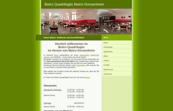 Vorschau von www.bistro-quadrifoglio.de, Bistro Quadrifoglio