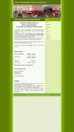 Vorschau der mobilen Webseite www.bistro-quadrifoglio.de, Bistro Quadrifoglio