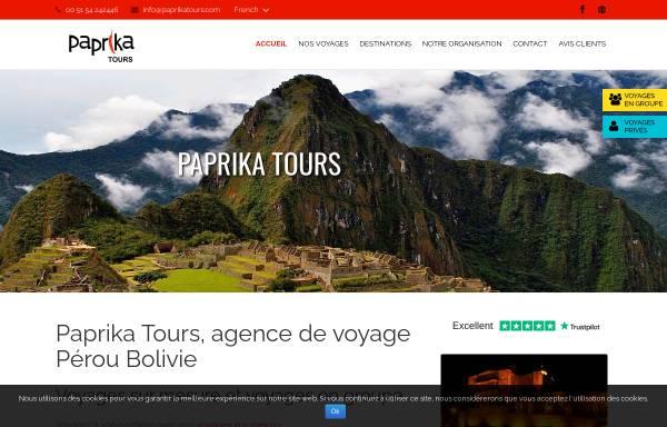 Vorschau von www.paprikatours.com, Paprika Tours