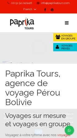 Vorschau der mobilen Webseite www.paprikatours.com, Paprika Tours