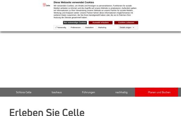 Vorschau von www.celle-tourismus.de, Tourismus- und Stadtmarketing Celle GmbH