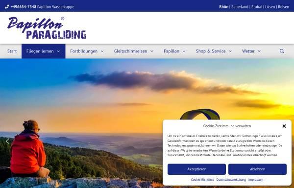 Vorschau von www.wasserkuppe.com, Motorschirm-Schule Rhöner Drachen- und Gleitschirmflugschulen Wasserkuppe