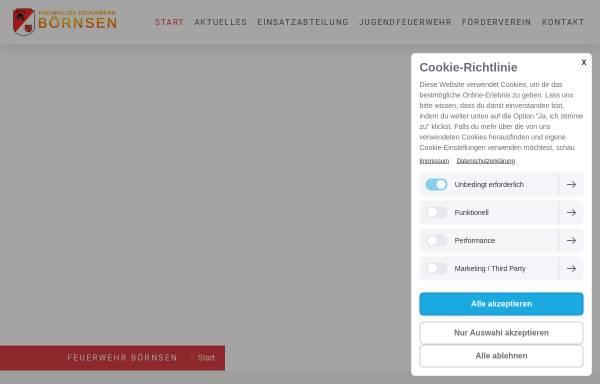 Vorschau von www.xn--feuerwehr-brnsen-wwb.de, Freiwillige Feuerwehr Börnsen