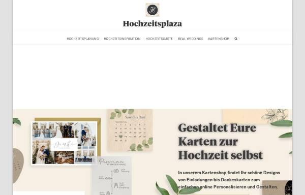 Vorschau von www.hochzeitsplaza.de, Hochzeitsplaza