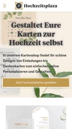 Vorschau der mobilen Webseite www.hochzeitsplaza.de, Hochzeitsplaza