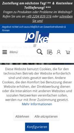 Vorschau der mobilen Webseite www.joke.de, JOKE® Joisten & Kettenbaum GmbH & Co. KG