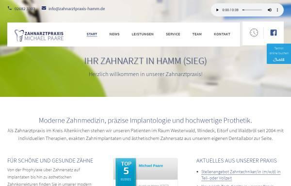 Vorschau von www.zahnarztpraxis-hamm.de, Zahnarztpraxis Michael Paare