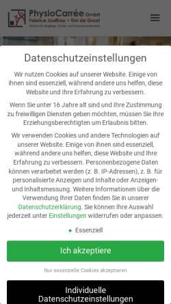 Vorschau der mobilen Webseite www.therapieosnabrueck.de, Therapiezentrum Fabrice Jouffrau