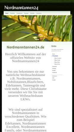 Vorschau der mobilen Webseite www.nordmanntannen24.de, Nordmanntannen24, Tiffany Trees