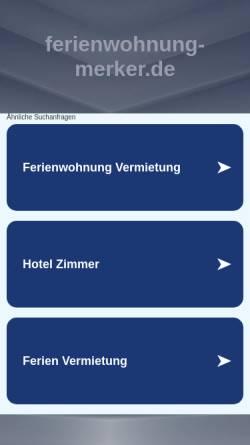 Vorschau der mobilen Webseite www.ferienwohnung-merker.de, Ferienwohnung Merker