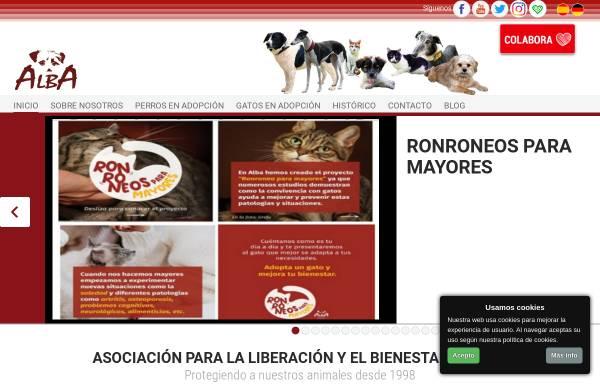 Vorschau von www.albaonline.org, ALBA Asociación para la liberación y el bienestar animal