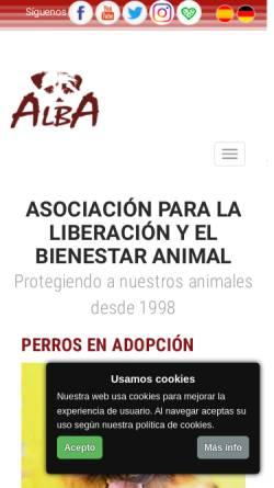Vorschau der mobilen Webseite www.albaonline.org, ALBA Asociación para la liberación y el bienestar animal