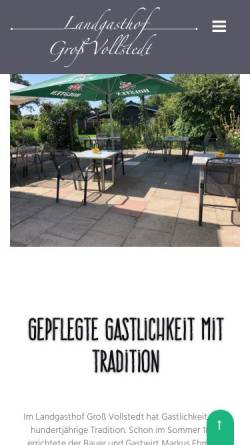 Vorschau der mobilen Webseite www.landgasthof-gross-vollstedt.de, Landgasthof Groß Vollstedt