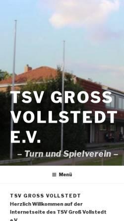 Vorschau der mobilen Webseite www.tsv-gross-vollstedt.de, TSV Groß Vollstedt e.V.