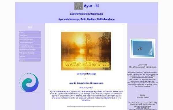 Vorschau von www.ayur-ki.ch, Ayur-ki, Tschus Charles-Andre