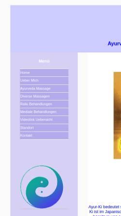 Vorschau der mobilen Webseite www.ayur-ki.ch, Ayur-ki, Tschus Charles-Andre