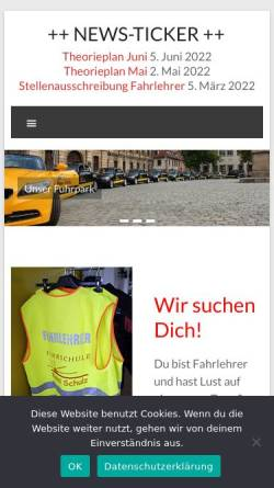 Vorschau der mobilen Webseite www.fahrschule-erlangen.de, Fahrschule Erlangen by Klaus Schulz