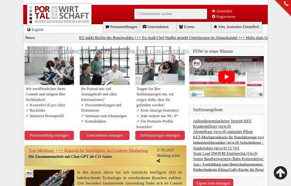 Vorschau von www.portalderwirtschaft.de, Portal der Wirtschaft