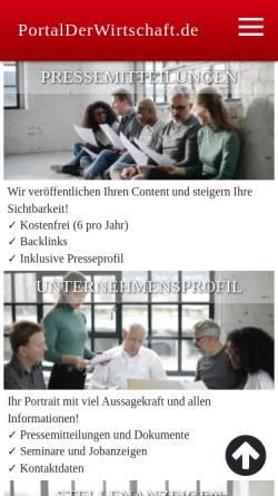 Vorschau der mobilen Webseite www.portalderwirtschaft.de, Portal der Wirtschaft