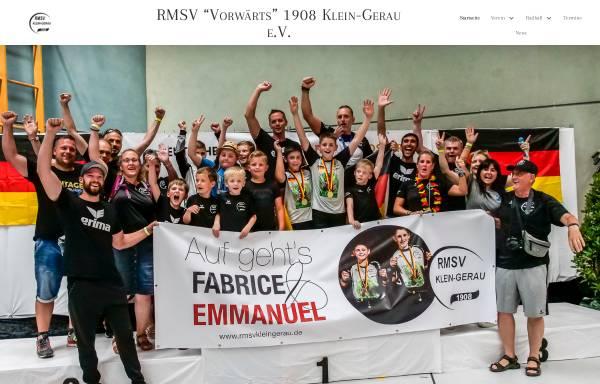 Vorschau von www.rmsvkleingerau.de, RMSV Vorwärts 1908 Klein-Gerau
