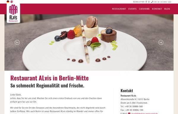 Vorschau von www.alvis-restaurant.de, Alvis