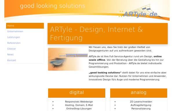 Vorschau von www.artyle.de, ARTyle