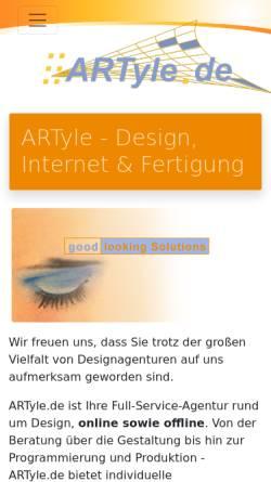 Vorschau der mobilen Webseite www.artyle.de, ARTyle