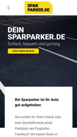 Vorschau der mobilen Webseite www.sparparker.de, Sparparker.de