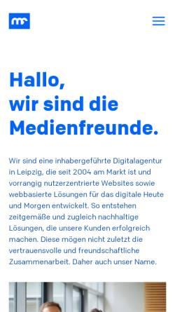 Vorschau der mobilen Webseite medienfreunde.de, Medienfreunde GbR