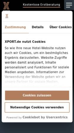 Vorschau der mobilen Webseite www.xport.de, Xport Communication GmbH