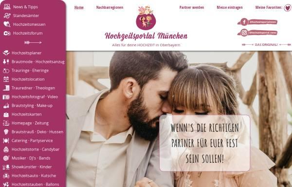 Vorschau von www.hochzeitsportal-muenchen.de, Hochzeitsportal München