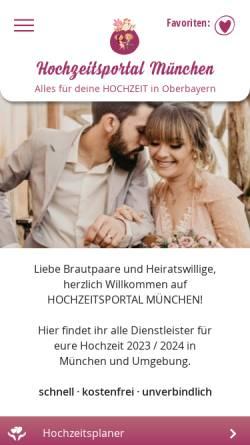 Vorschau der mobilen Webseite www.hochzeitsportal-muenchen.de, Hochzeitsportal München
