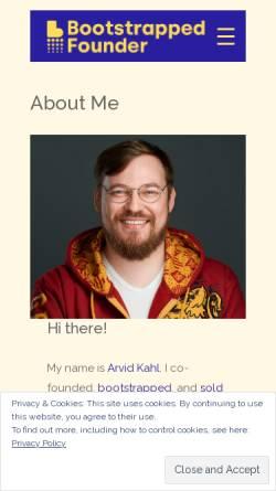 Vorschau der mobilen Webseite www.arvidkahl.de, Arvid Kahl - Webdesign und Softwareentwicklung