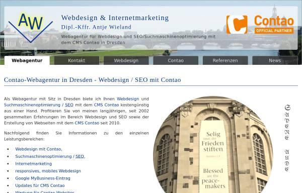 Vorschau von www.wieland-webdesign.de, Webdesign & Internetmarketing Antje Wieland