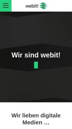 Vorschau der mobilen Webseite www.webit.de, Webit! Gesellschaft für neue Medien mbH