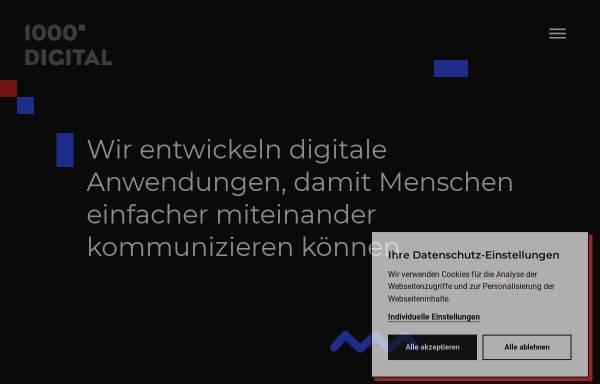 Vorschau von www.1000grad.de, 1000grad-digital GmbH